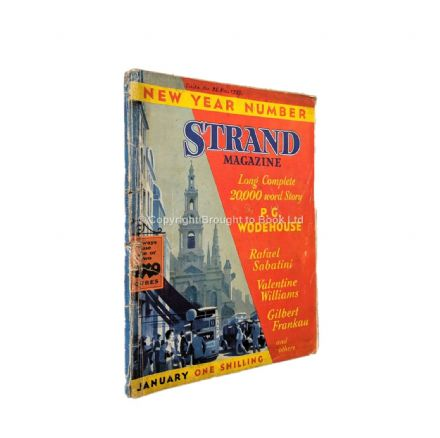 The Strand Magazine 553 January 1937 P.G. Wodehouse Rafael Sabatini Valentine Williams